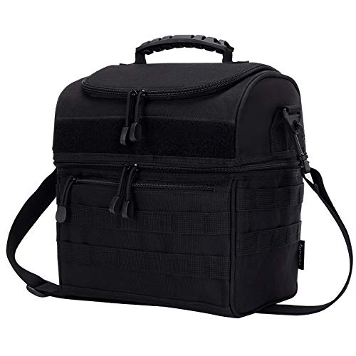 Molle Lunch Bag 2 Compartment Cooler Bag for Work