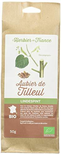 L'Herbier de France Aubier de Tilleul Bio Sachet Kraft 50 g