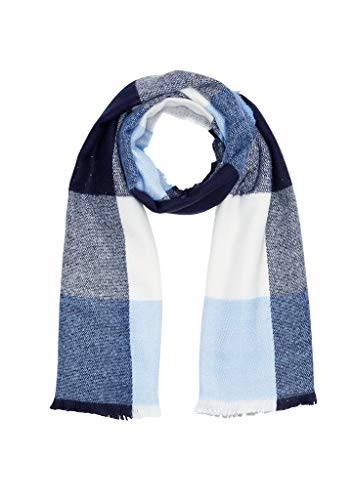 s.Oliver Dames 39.911.91.5803 sjaal, Blauw (Blue Check 59n1), One Size (Manufacturer Maat: 1)