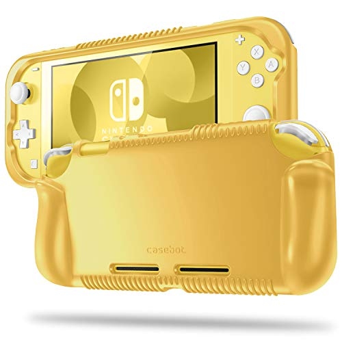 Fintie Case for Nintendo Switch Lite 2019 - Soft Silicone [Shock Proof] [Anti-Slip] Protective Cover with Ergonomic Grip Design for Switch Lite Console (Yellow)