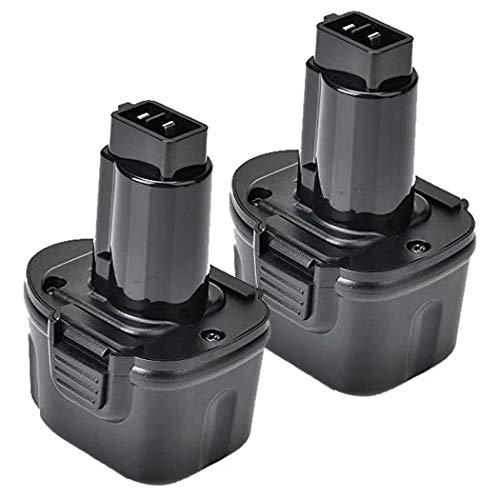 2 Pack 3600mAh 7.2V Battery Compatible with Dewalt DW9057 DE9057 DE9085 DW920K DW920K2 DW925K DW925K2 DW968K, 7.2V Ni-MH Battery