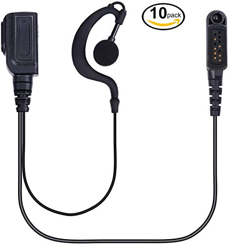 Find Bargain abcGoodefg Walkie Talkies Earpiece Headset with Mic PTT Compatible with HYT Hytera PD60...
