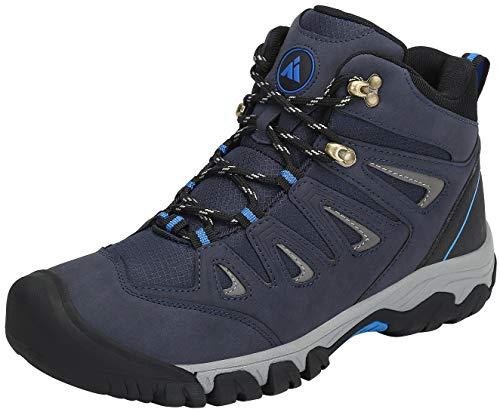 Mishansha Wanderschuhe Herren Damen Trekkingstiefel wasserdichte Atmungsaktiv Bergstiefel Leicht rutschfeste Wanderstiefel Outdoor Sportliche Hiking Trekking Walking Schuhe(Blau, 39 EU)