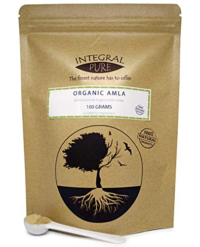 Organic Amla Powder (Indian Gooseberry) Amalaki, Emblica officinalis, Dry hog Plums (100g)