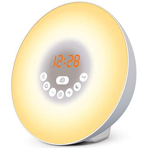 Simulatore dell'Alba per un Risveglio Dolce e Luminoso – Riposate meglio con la modalità Notte Fonda – Vivete delle mattine più zen - Sveglia cromo terapico