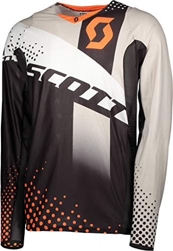 Scott 450 Angled MX Motocross Jersey/DH Fahrrad Trikot schwarz/orange 2018: Größe: L (50/52)