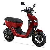 Elektro-Motorroller AsVIVA EM1 rot, 1200 Watt Elektromotor, Elektroroller mit Straßenzulassung, 45 km/h, herausnehmbarer 20 Ah 60V Lithium-Ionen-Akku, 120km Reichweite