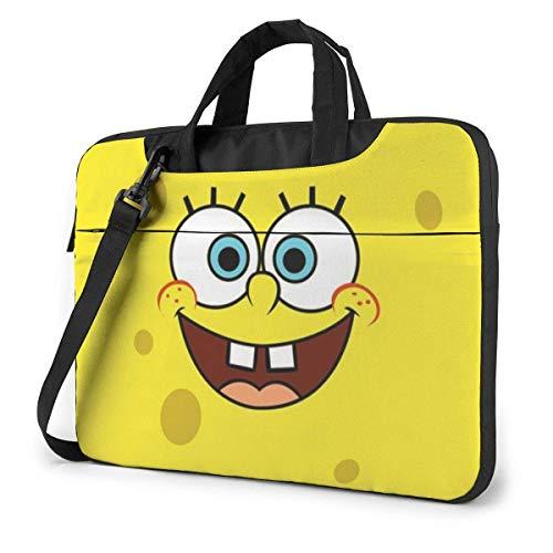 15.6 Inch Laptop Bag Spongebob-Squarepants-Phone-Wallpaper Laptop Briefcase Shoulder Messenger Bag Case Sleeve