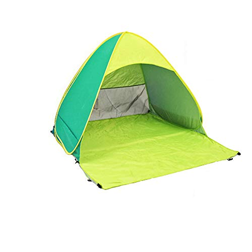 Sconosciuto Automatico Pop up Spiaggia Tenda da Campeggio Spiaggia Ombra Tende per Pesca attività all' Aperto Protezione UV, Green