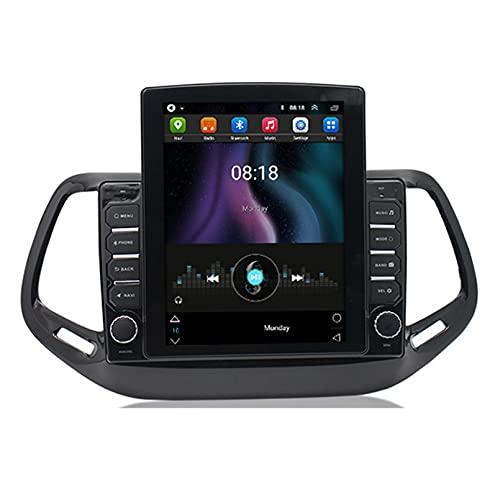 Android 10.0 8 Core Car stereo radio de navegación por satélite FM AM Autoradio 2.5D Pantalla táctil para Jeep COMPASS 2017-2018 Navegador GPS Bluetooth WIFI GPS USB SD player(Color:WIFI 1G+16G)
