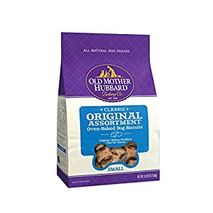Old Mother Hubbard Classic Original Assortment Biscuits Baked Dog Treats, Small, 3.5 Pound Bag