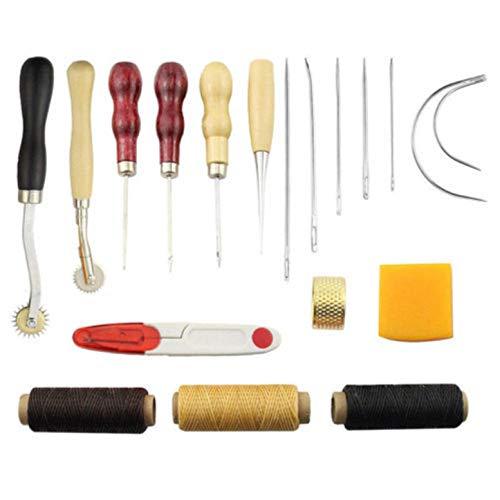 CHSEEO Artesanía del Cuero, 14 Piezas Juegos y Kits de Costura Kits de Repujado de Cuero Herramientas de Coser Perforadora de Cuero para Manualidades DIY Cuero Artesanía #4