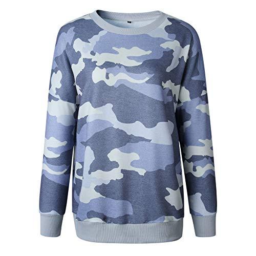WonderBabe Herbst Winter Damen Sweatshirt Hoodie/Pullover Langarm Einfarbig/Camouflage/Regenbogen Print Casual Sweater Warm Top