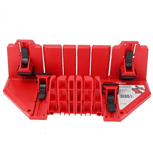 Caja de Sierra Ingletadora Multifuncional Para Carpintería Oblicua de 22,5/45/90 Grados de Yeso Biselado Guía de Corte de Yeso