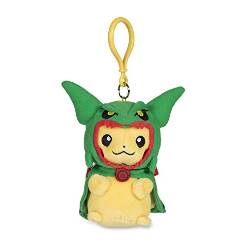 Pokémon POKÉ Plush Keychain Pikachu with Rayquaza Cape