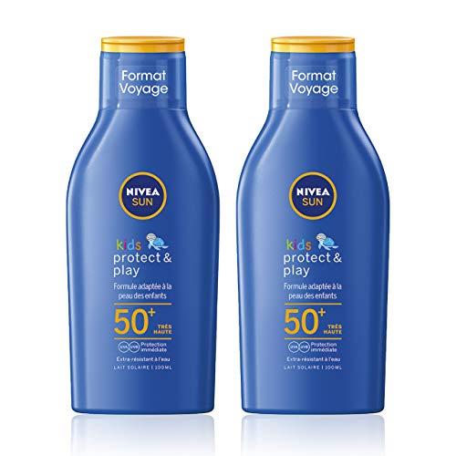 classement un comparer Nivea Sun Kids Protect & Play Sun Cream SPF 50+ (2 x 100 ml), Crème solaire hydratante…