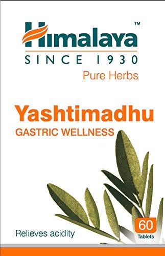 Himalaya Yashtimadhu Licorice 60 Tablets - Gastric Wellness/Relieves Acidity
