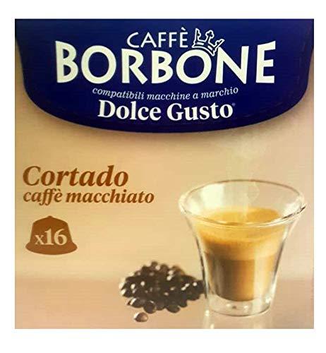 16 Capsule Caffè Borbone cortado caffè macchiato compatibili Nescafè Dolce Gusto ®