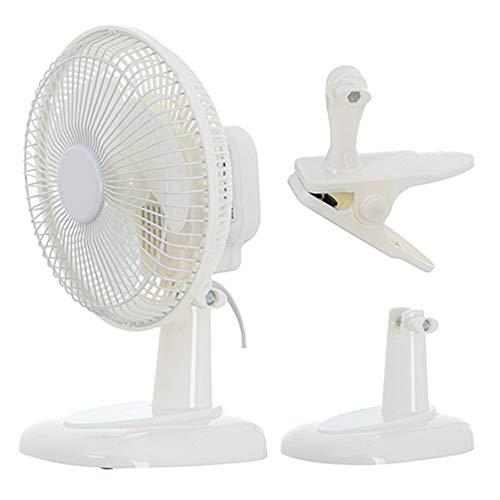 TronicXL Mini ventilador con clip y soporte, 30 W, 230 V, ventilador de mesa, enchufe de red, cable de alimentación