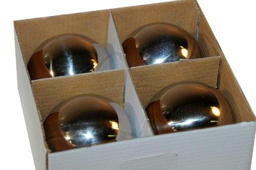 Kleine Schwimmkugeln - 4 Stück - Durchmesser: 8cm - Farbe: Silber - Material: Aluminium - Dekokugel für den Garten