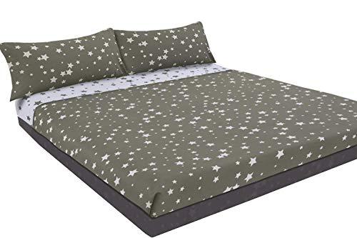 Montse Interiors Juego de sábanas Estampado (Stars, para Cama de 150x190/200)