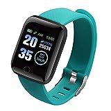 Xingying Reloj inteligente con pantalla a color de 116 Plus, monitor de frecuencia cardíaca, presión arterial, resistente al agua