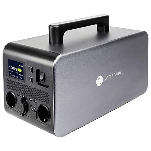 WATTSTUNDE WS1000PD PowerDude Powerstation - Mobiler Lithium Akku, Wechselrichter und Solar Laderegler in einem 100W / 1080Wh