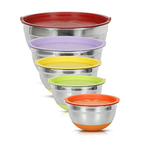 Simpli-Magic Mixing Bowls with Airtight Lids, Basic, Stainless