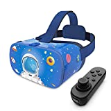 DESTEK VR Headset for Kids, 110°FOV Anti-Blue Light Eye Protected HD Virtual Reality Headset w/Bluetooth Controller for iPhone 12/11/X/Xs/XR/Max,for Samsung S20/S10/Note 10/9,Phones w/4.7-7.2in Screen