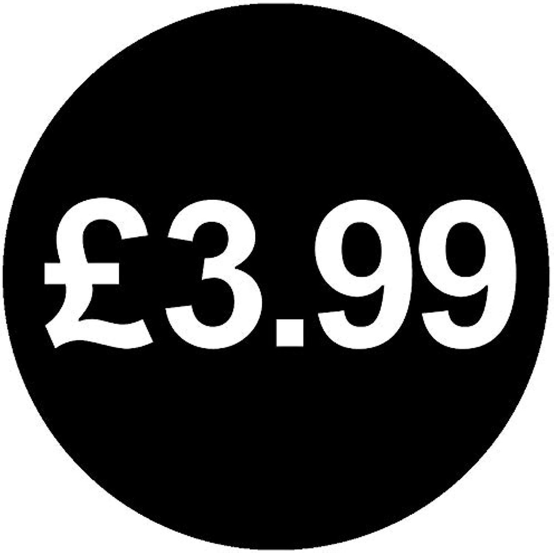 Price stickers £ nero - 30mm, £ 3,99, 50000