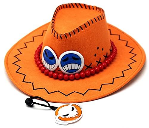 Sombrero de una Pieza Venta al por Mayor de una Pieza Anime Cosplay Hat Portgas D Ace Cosplay Sombrero...