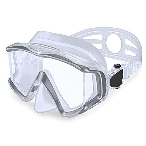 CHSDN Equipo de Snorkel, máscara de Buceo Máscara de Snorkel de natación antivaho Adecuado para Adultos Buceo Buceo Natación Gafas de Snorkel Máscaras, Blanco