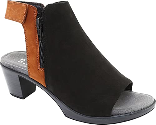 Naot Footwear Women's Favorite Bootie Black Velvet Nubuck/Hawaiian Brown Nubuck 9 M US