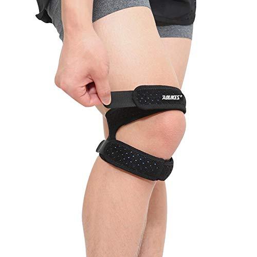 Leap-G Bandage Patellaire Protection Genou Réglable Anti-déparant,Idéal genouillère pour Vélo, Courir, Volley, Basket, Foot et Sport,Convient pour Les Hommes et Les Femmes