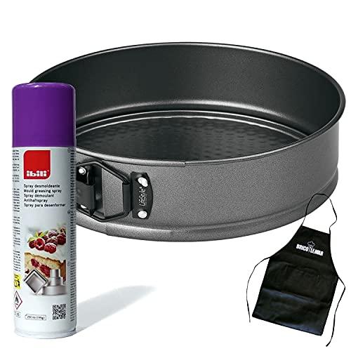 Moldes Para Repostería + Spray Desmoldeante Especial Repostería + Delantal Bricolemar de Regalo! (Spray + Molde de 24cm)