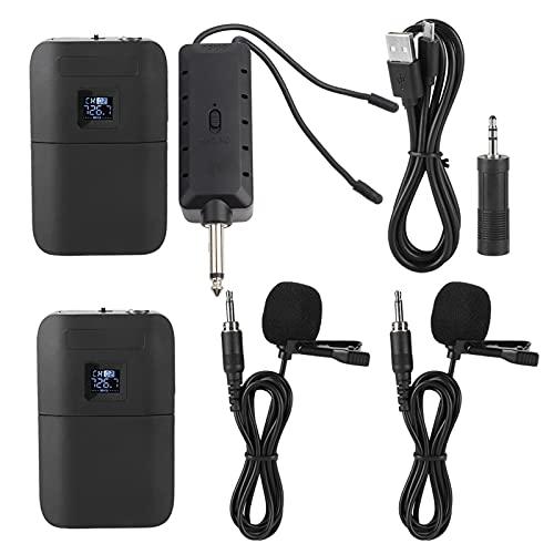 Micrófono inalámbrico, micrófono Pantalla LED portátil Práctico con receptor Transmisor para la enseñanza para la promoción empresarial para la formación de conferencias en el escenario