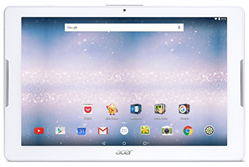 Acer Iconia One 10 (B3-A30) 10.1 inch HD IPS Touchscreen Tablet (MediaTek Cortex A53 Quad-Core, 1GB RAM, 16GB eMMC Storage, WLAN, BT,GPS, 2x Camera, Micro SD, Android 6.0) - White