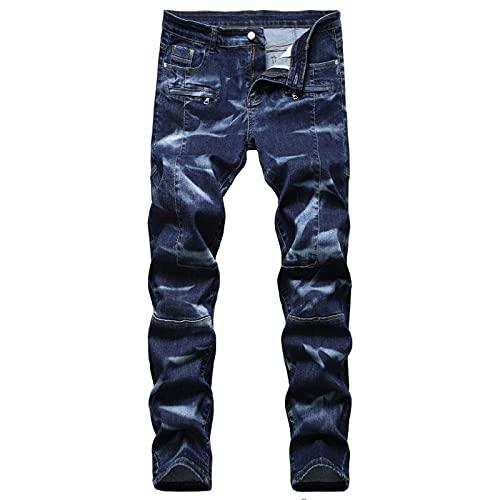 CCLYQ Jeans para el tamaño sólido de los Hombres otoño Primavera Hip Hop Punk Streetwear pantalón Pantalones Pantalones Pantalones 1 36