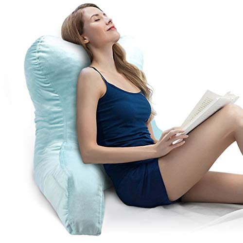 mittaGonG Reading PillowBack Pillows for Sitting in BedReading amp Bed Rest Support Pillows with Arms Velvet Removable CoverSlim Waist Design Suited for Adults and Kids