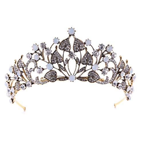 NXYJD Joyería Trajes de Coronas Tiaras Mujeres del Partido del Desfile cristalina Clara for la Diadema de Pelo
