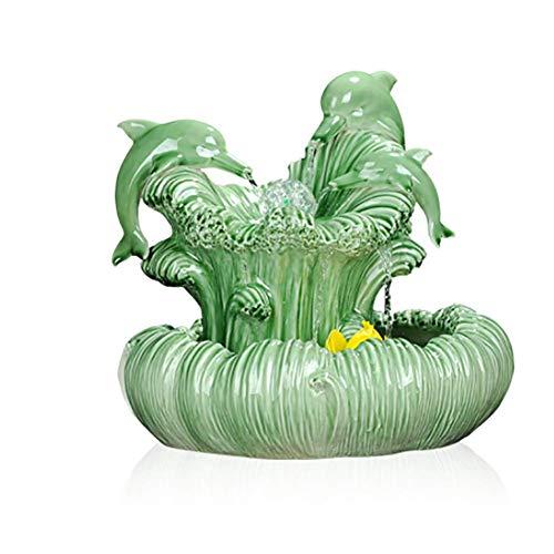 Indoor Water Feature Fontein, Home Decor Tuin Ornamenten Feng Shui Ornamenten, Waterpomp Vernevelaar (33 * 33Cm)