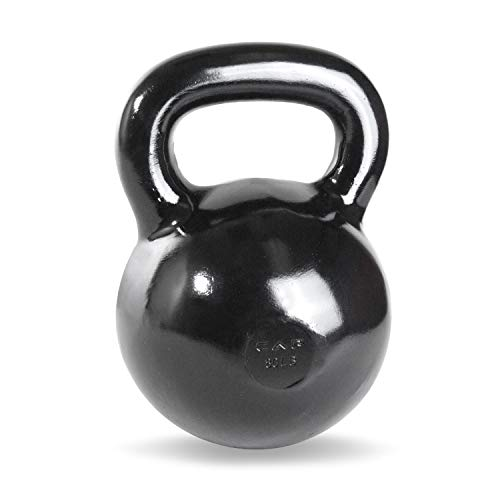 CAP Barbell Black Powder Coated Cast Iron Kettlebell, 80-Pound