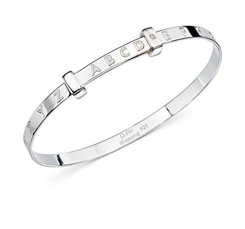 D pour diamant bébé Bijoux Enfants lettres de l'alphabet bébé Bracelet Cadeau de baptême