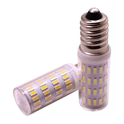 E14 Mini bombilla LED para lámpara de maíz, 3W 12V, voltaje seguro, reemplace la luz halógena de 30W, SMD 4014 300 lúmenes, blanco, paquete de 2