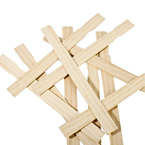 Made in USA Woodman Crafts Paint Sticks - 12 Inch (Pack of 25) Premium Grade Wood Stirrers - Use for Wood Crafts - Paddle to Mix Epoxy Or Paint - Garden - Library
