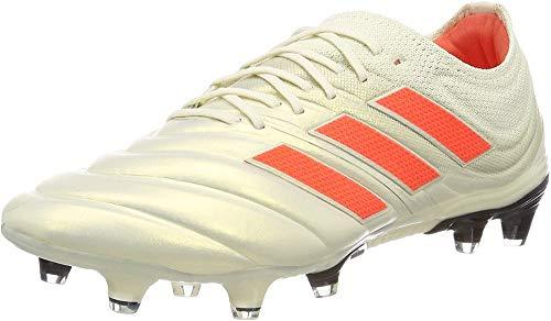 adidas Copa 19.1 Fg, Scarpe da Calcio Uomo, Bianco off White/Solar Red/Core Black, 45 EU