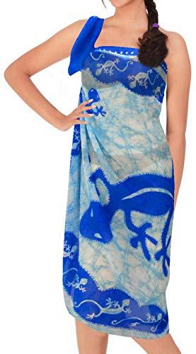 La Leela Boho - Kimono de caftán bordado de rayón para mujer, tamaño grande, corto, midi, ropa de noche, día de fiesta, cubierta de playa, talla grande, Kaftan F Azul primavera_k472 L