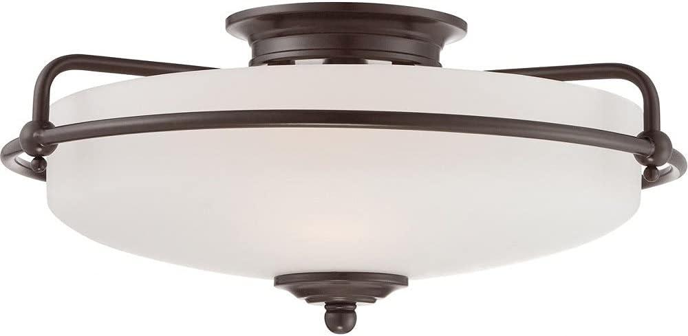 Quoizel GF1617PN Portland Mall Griffin Flush 3-Light Mount Ceiling Lighting Max 67% OFF