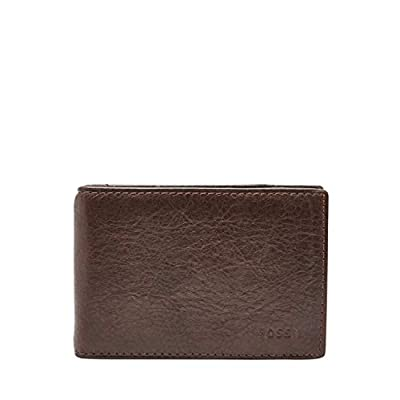 Fossil Men's RFID Blocking Ingram Money Clip Bifold-Brown, One Size