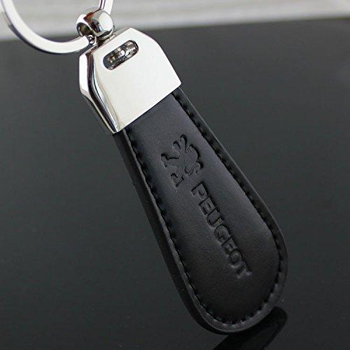 NN_KA Porte clé clés Clef PG-Simili Design (Simili Cuir et surpiqûre) Compatible Design avec Logo